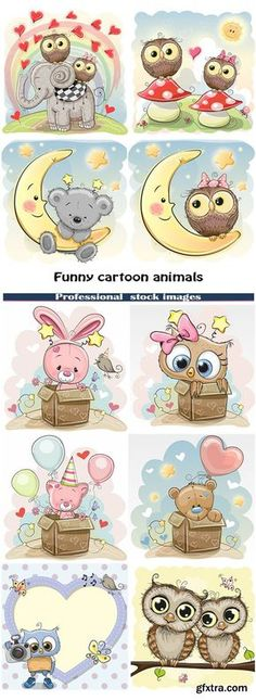 Funny cartoon animals