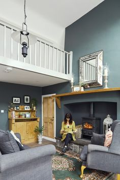 Deirdre's dark, daring cottage on the outskirts of Galway City Cottage House Designs, Country Cottage Living, Cottage Interiors, Cottage Renovation, Home, Cottage Extension, Sitting Room Design, Irish Cottage Interiors, Cottage Living