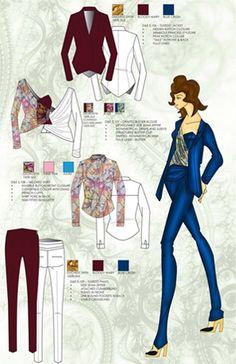 how to make a fashion portfolio - Google Search