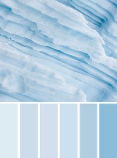 100 Color Inspiration Palettes : Ice Blue Color Scheme #color #colorscheme #blue #colors