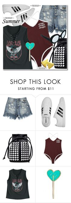 """""""summer sporty"""" by paculi ❤ liked on Polyvore featuring adidas, Kreepsville 666, Replay and happyhour"""