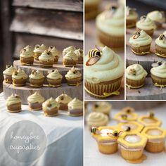 The Bees Knees, Banana cupcakes with Honey Buttercream #hellomysweet #cupcake #bumblebee #beehive #honey #wedding #bees #hellocupcake