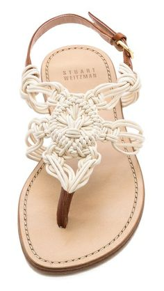 I'm in love!!!! Stuart Weitzman Alfresco Macrame Sandals $335