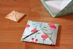 AHG Pen Pal Ideas: Beautiful Origami Envelope How to Fold Tutorial