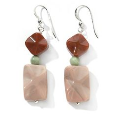 Jay King Multicolor Agate Sterling Silver Earrings at HSN.com.
