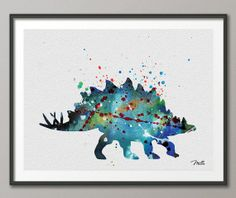 Stag https://www.etsy.com/listing/178793719/dinosaur-art-print-watercolor-painting
