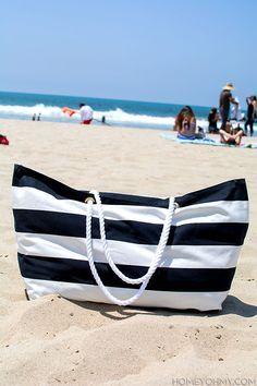 DIY No Sew Beach Bag                                                                                                                                                                                 More