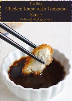 My BEST >> Katsu with Tonkatsu Sauce - Weblocalfood Katsu Sauce Recipe, Chicken Katsu Sauce, Chicken Katsu Recipes, Chicken Sauce Recipes, Sauce For Chicken, Best Vegan Recipes, Asian Recipes, My Recipes, Cooking Recipes