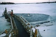 Ice swimming can be called a national sport in Finland; there are already more than 100 000 swimmers! Next year the world championship of ice swimming will be held in Rovaniemi, Lapland (Finland).   Ice swimming is swimming in a body of water with a frozen crust of ice.