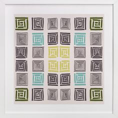Slightly colorful quilt by Bethania Lima at minted.com