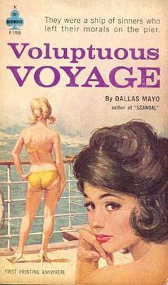BRUCE MINNEY - art for Voluptuous Voyage by Dallas Mayo - 1962 Midwood Books