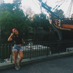 We love Cierra Ramirez's casual Disneyland outfit. She looks great! | The Fosters