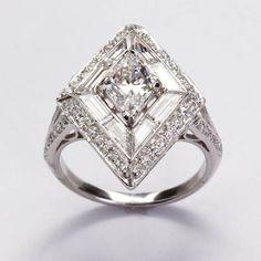 Art Deco Lozenge Diamond Ring