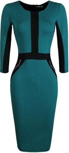 jeansian Women's Elegent High Elasticit Evening Gowns Pencil Dresses WKD176