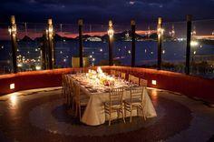 """City Lights"" at Sunset da Mona Lisa for intimate wedding reception dinner"
