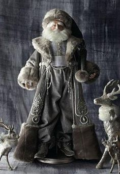 Boasting exceptional and sophisticated detail, the St. Nicholas Figure that will add elegant and vintage appeal to your Christmas collection. Christmas Colors, White Christmas, Vintage Christmas, Xmas, Magical Christmas, Elegant Christmas, Country Christmas, Father Christmas, Christmas Crafts