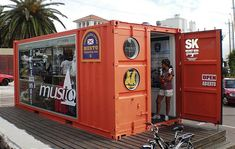 Another smart business idea with using a shipping container.