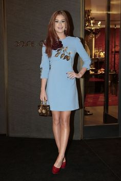 marina ruy barbosa (Foto: Photo Rio News) in Dolce and Gabbana light blue sequined dress. Vegan Fashion, Ethical Fashion, Cool Outfits, Fashion Outfits, Womens Fashion, Moda Fashion, Casual Dresses, Short Dresses, Party Looks