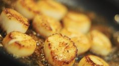Michael Symon's Pan Seared Scallops  with Shaved Zucchini, Lemon and Almonds
