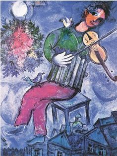 Marc Chagall,  my favorite painter    so much emotion    and it is positive