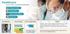 Virtual Career Network: Healthcare: Career and job search tools for those new to the healthcare field. Nursing Websites, Learn Earn, Choosing A Career, Healthcare News, Job Opening, Health Promotion, Piano Lessons, Find A Job, Job Search