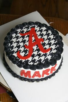 Alabama Football Houndstooth Cake
