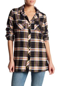 Crave You Long Sleeve Plaid Shirt
