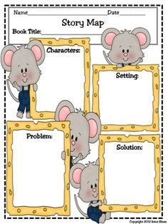 FREE- Story Map Printable : Setting, Characters, Problem, Solution English Language Arts, Writing, For All Subjects Kindergarten, 1st, 2nd, 3rd, 4th, 5th, 6th, Homeschool Printables, Posters, Literature Circles