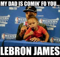 NBA Finals: Here's your Game 1 dose of Riley Curry - zander - Basketball Funny Nba Memes, Funny Basketball Memes, Funny Sports Quotes, Basketball Is Life, Sport Quotes, Curry Basketball, Basketball Relationships, Basketball Problems, Basketball Pictures