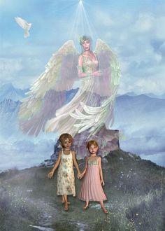 Guardian Angel art by *mysticmorning on deviantART Angel Guide, I Believe In Angels, My Guardian Angel, Angel Pictures, Angels Among Us, Angels In Heaven, Heavenly Angels, Illustrations, Celestial