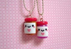 Peanut Butter & Jelly Jars Best Friends Kawaii Cute by DoodieBear, $20.00