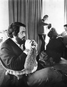 Kubrick with happy cat and very cool watch.