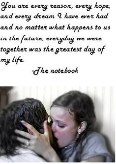 The Notebook. Cant stand romance movies now that I'm older. But gotta admit Allie and Noah had real love going on. They faught hard but they loved harder Film Quotes, Me Quotes, Sunset Quotes, Lyric Quotes, Quotes Images, Attitude Quotes, Qoutes, Notebook Movie Quotes, Quotes From The Notebook