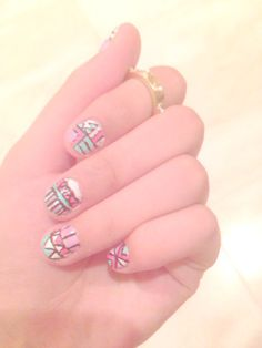 Tried tribal nails for the first time...