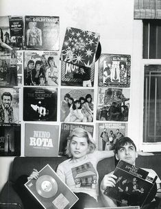 Debbie Harry and Chris Stein in one of their NYC apartments
