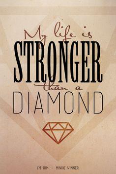 my life: Satisfaction | stronger: Willow Std | diamond: Mensch