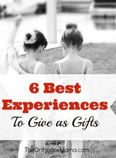 Do you want to reduce toy clutter and provide memory-making experiences to your family members as gifts instead?  These 6 Best Experiences to Give as Gifts will provide hours of fun and entertainment without adding needless clutter to the house!