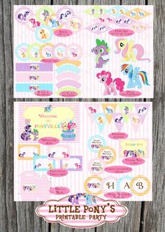 My Little Pony inspired printable party. All you need to have a wonderful birthday party. $17.50