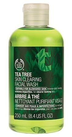 The Body Shop Tea Tree Skin Clearing Facial Wash Regular, Ounce Body Shop Tea Tree, The Body Shop, Oil Face Wash, Tea Tree Face Wash, Tea Tree Oil For Acne, Skin Tags Home Remedies, Cleanser For Combination Skin, Color Style, Facial Wash