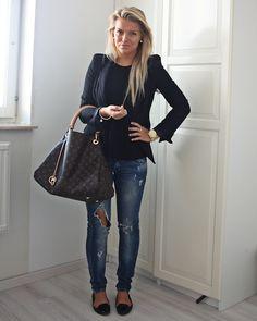 czarna marynarka, czarna bluzka, dżinsy 2012 August | P.S. i love fashion - Part 8