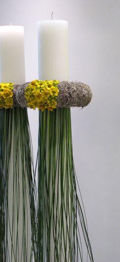 Wedding candles by kokkinos-flowers,gr, Chandelier Bougie, Chandeliers, Ikebana, Flower Decorations, Wedding Decorations, Arte Floral, Deco Table, Decoration Table, Artificial Flowers
