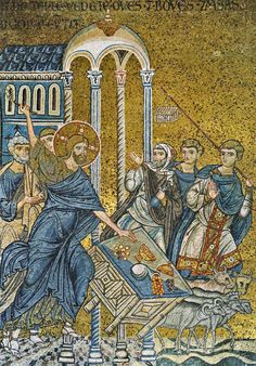 01 Anonymous. Christ Drives the Merchants from the Temple. Duomo di Monreale. Monreale (Sicily) (IT)
