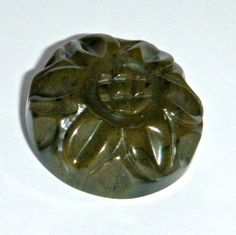 Vintage 1940s Green Bakelite Carved Button by woolmountaindestash, $8.00