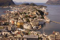 Norway. The picture of Aalesund that everyone takes by Matt Rudge. Creative Commons Attribution Licence