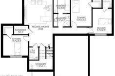 Plan de Maison Moderne Ë_125 | Leguë Architecture Plane, Custom Built Homes, Small House Design, New Home Designs, Best Investments, Architecture, Woodworking Projects, House Plans, New Homes