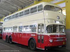 Bahnen und Busse - Doppeldecker-Bus DD 2 FU im Wiener Straßenbahnmuseum - Foto und Ecard