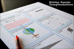 Math Review Printable Problems with answer keys! Great spiral review- by Kristine Nannini