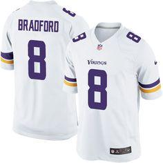 Men's Nike Minnesota Vikings #8 Sam Bradford Limited White NFL Jersey
