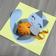 Easy Paper Crafts, Paper Crafts Origami, Diy And Crafts, Crafts For Kids, Arts And Crafts, Coffee Filter Art, Animal Crafts, Summer Crafts, Halloween Cards