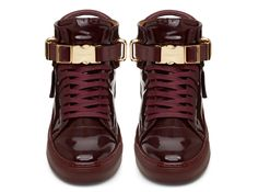 Buscemi Mens 100mm Burgundy Leather - Sneakerboy